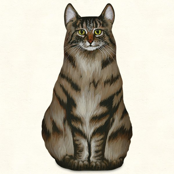 Maine Coon Cat Doorstop